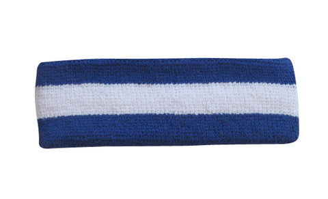Blue and White Sports Quality Headband