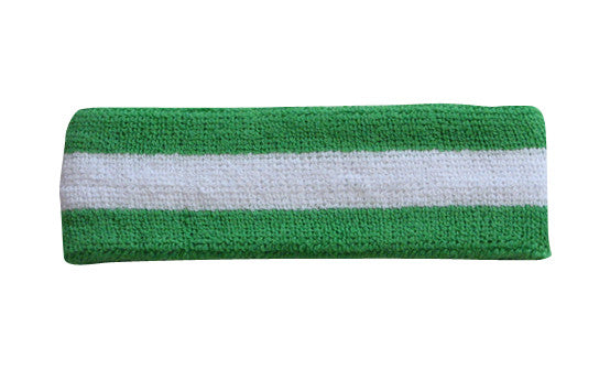 Bright and Green White Sports Quality Headband