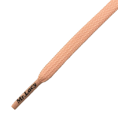 Mr Lacy Flat Pastel Pink Shoelaces