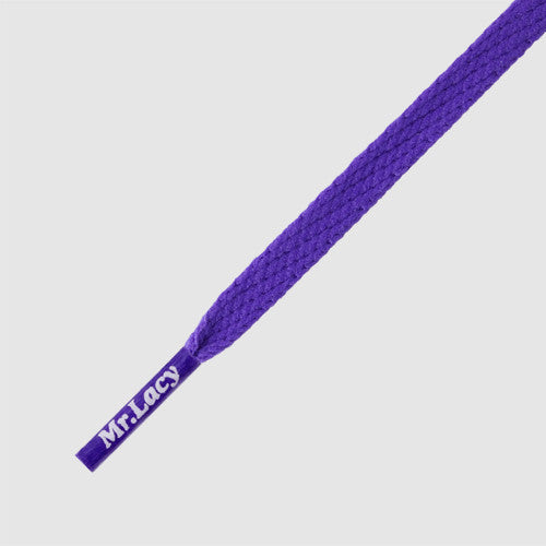 Mr Lacy Skinnies - Flat Violet Shoelaces