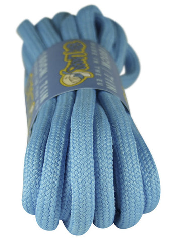Round Carolina Blue Shoelaces