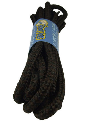 Round Black and Dark Brown Bootlaces