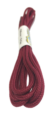 Round Burgundy Shoelaces