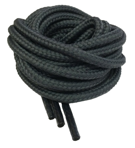 Round Dark Grey Bootlaces