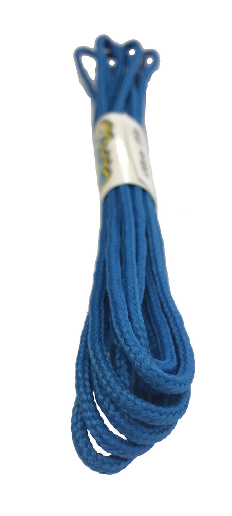 Round Electric Blue Shoelaces - 3mm wide