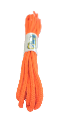 Round Neon Orange Shoelaces - 3mm wide