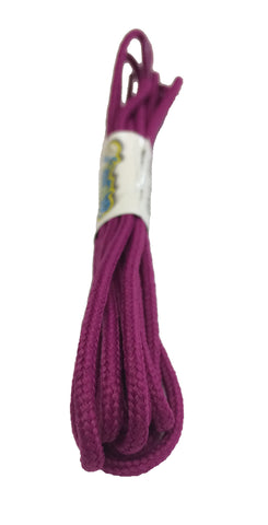 Round Plum Shoelaces - 3mm wide