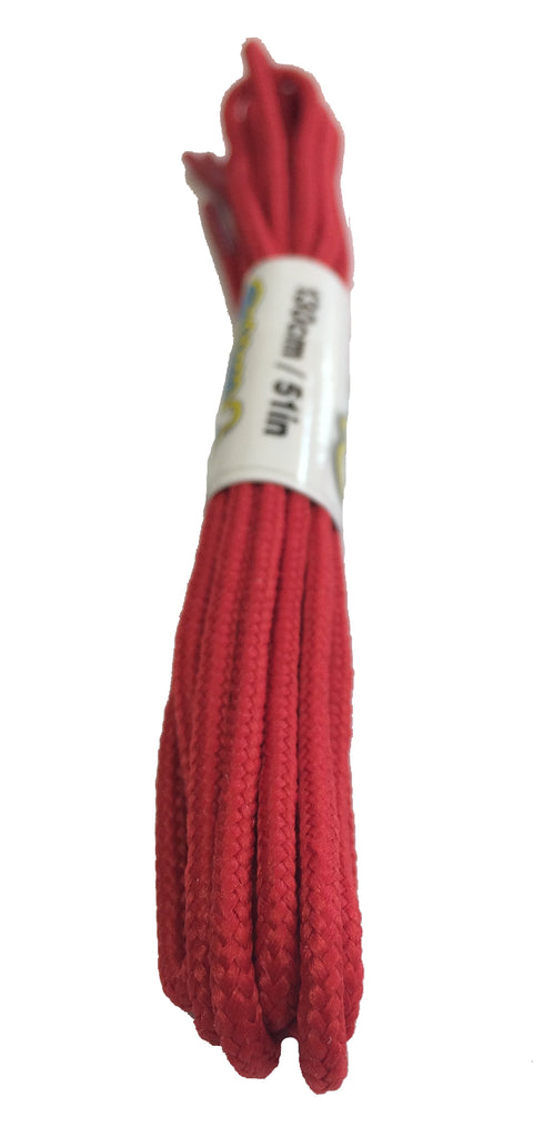 Round Red Shoelaces - 3mm wide