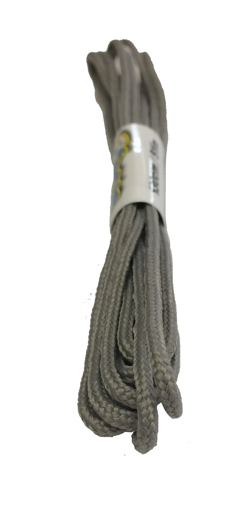 Round Silver Grey Shoelaces