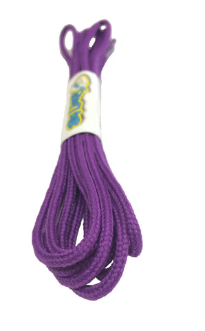 Round Violet Shoelaces - 3mm wide