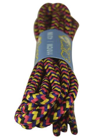 Round Yellow Pink Purple Black Bootlaces