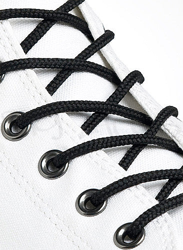 Round Black Shoe Boot Laces