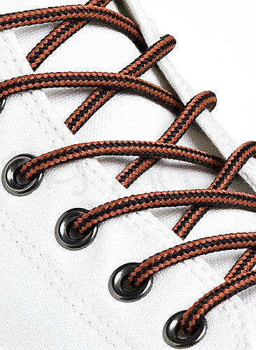 Round Black Rust Brown Shoe Boot Laces