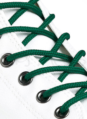 Round Forest Green Shoe Boot Laces