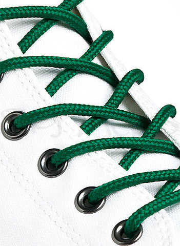 Round Green Shoe Boot Laces