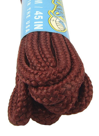 Round Maroon Shoe Boot Laces