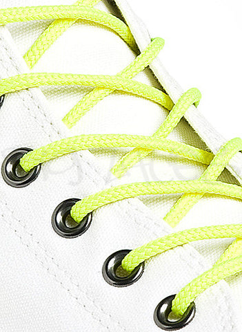Round Neon Yellow Shoe Boot Laces