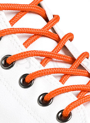 Round Orange Shoe Boot Laces