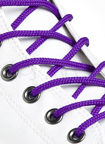 Round Purple Shoe Boot Laces