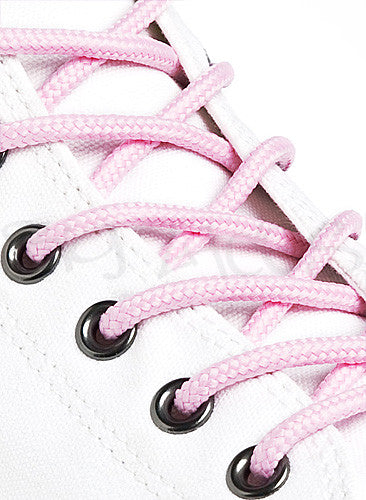 Round Pink Shoe Boot Laces