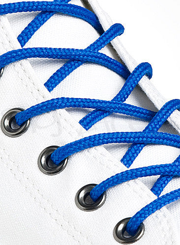 Round Royal Blue Shoe Boot Laces