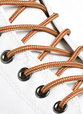 Round Rawhide Rust Gold Boot Shoe Laces