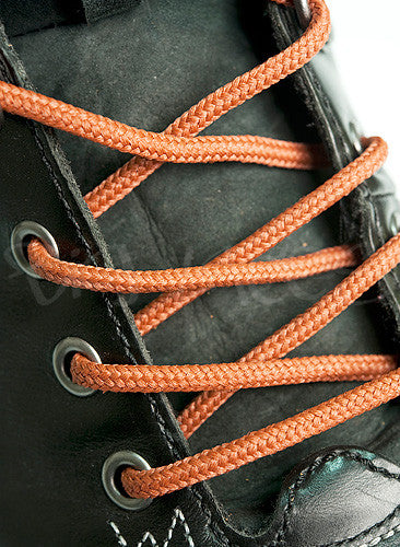 Round Rust Brown Shoe Boot Laces