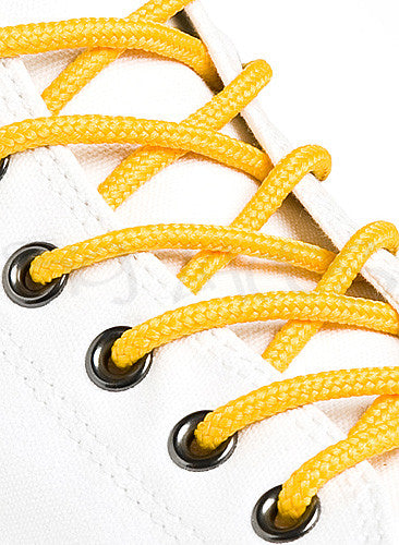 Round Yellow Gold Shoe Boot Laces