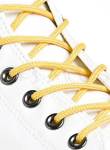 Round Yellow Shoe Boot Laces
