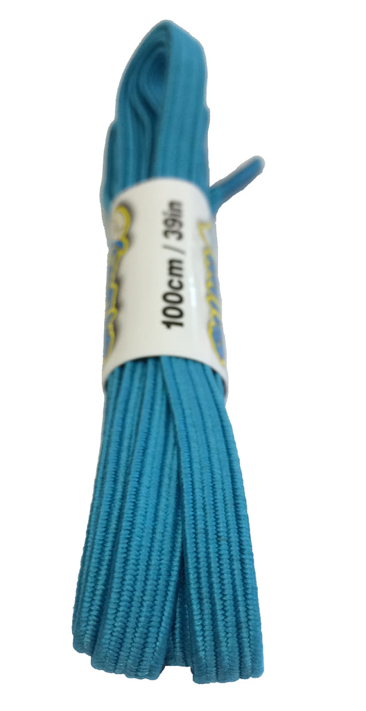 Elastic Light Blue Shoelaces