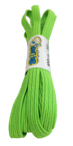 Elastic Neon Green Shoelaces
