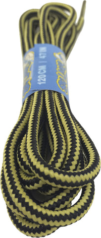 Round Black Yellow Bootlaces