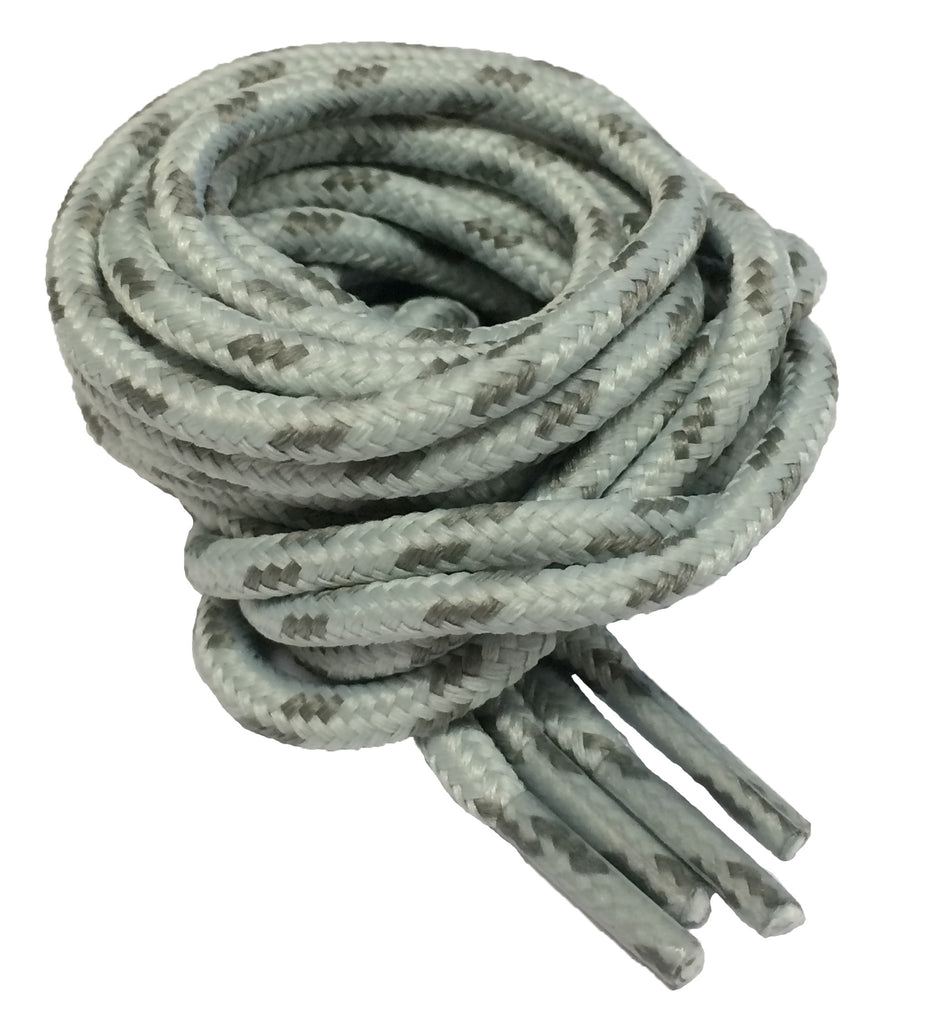 Round Grey and Dark Grey Fleck Bootlaces