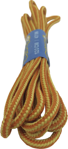 Round Orange Yellow Bootlaces