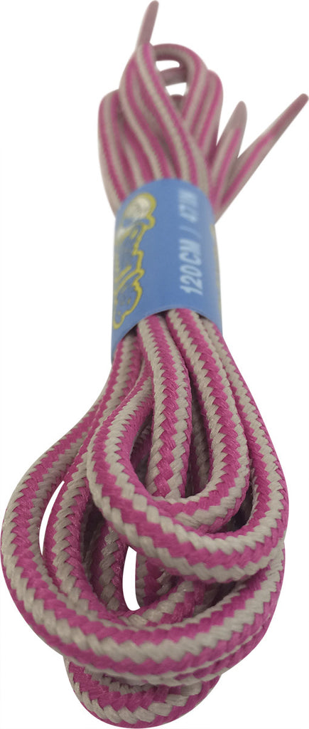 Round Pink Cream Bootlaces
