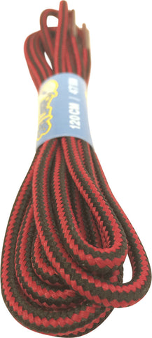 Round Red Black Bootlaces