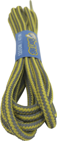 Round Reflective Lemon Bootlaces