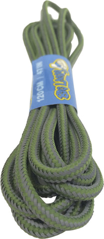 Round Reflective Lime Bootlaces