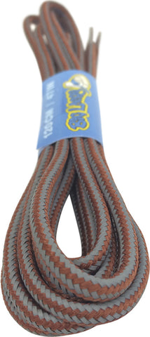 Round Reflective Rust Brown Bootlaces