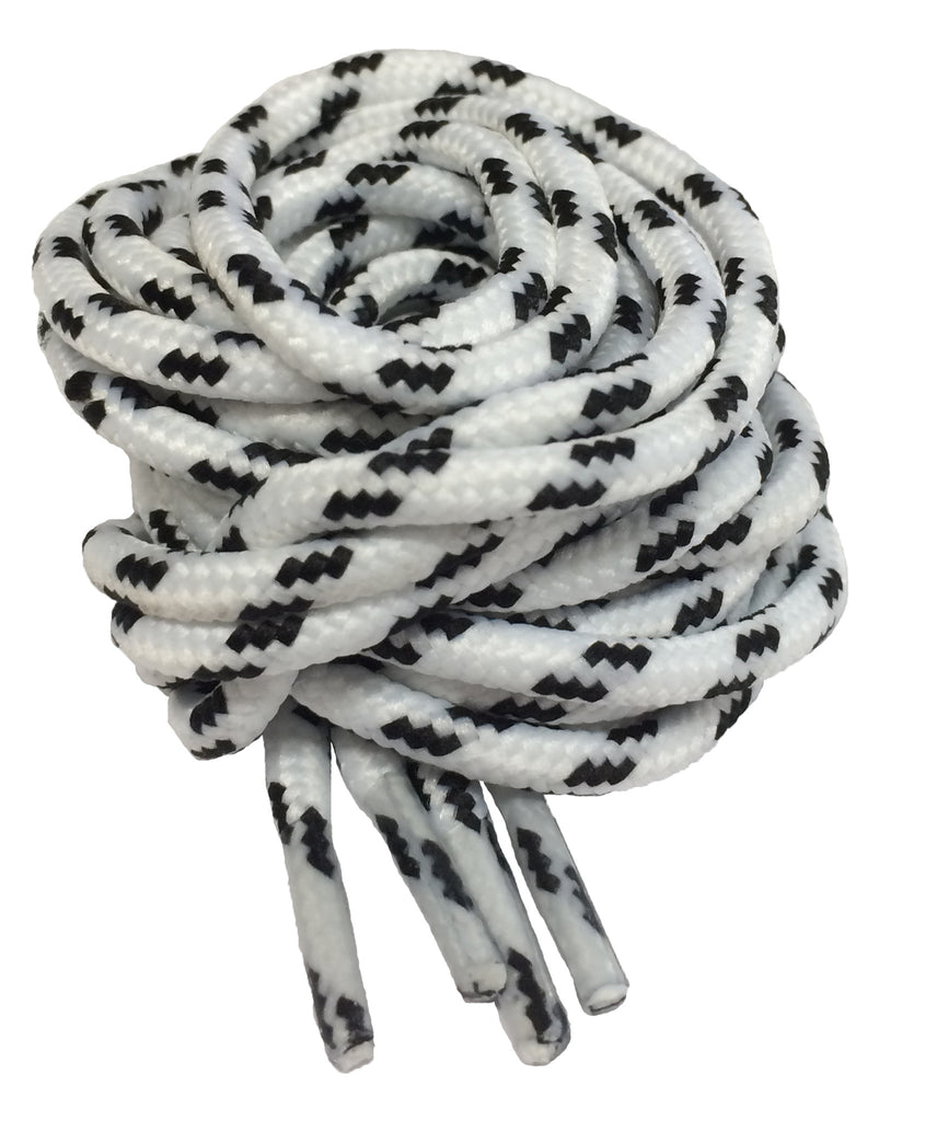 Round White and Black Fleck Bootlaces