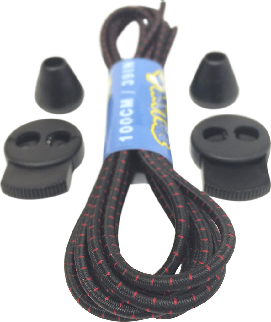 Black Red Lock Laces