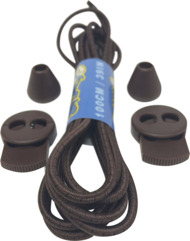 Brown Black Lock Laces