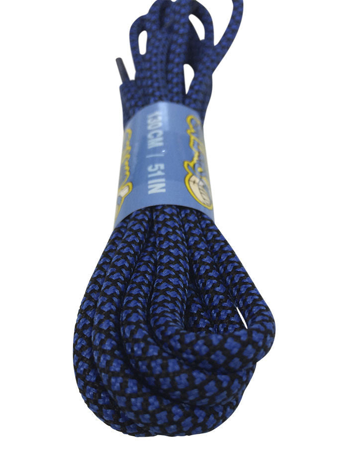 Rope Style Round Black Blue Laces