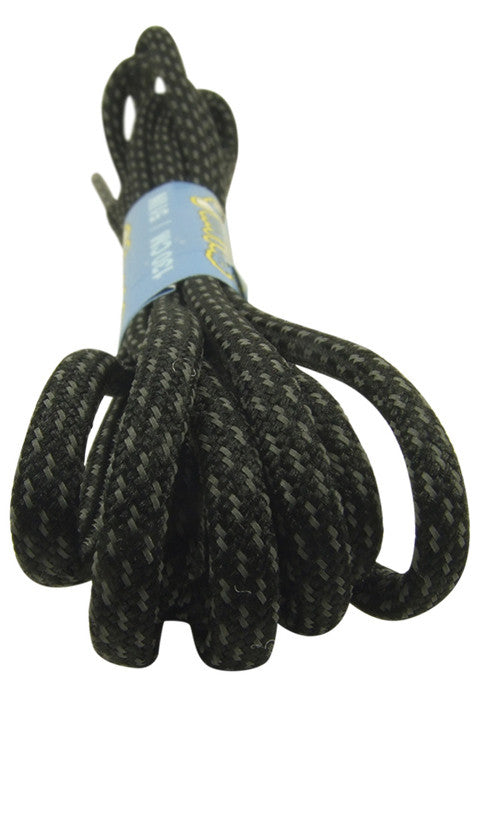 Rope Style Round Black Laces