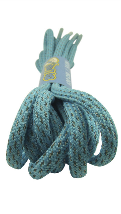 Rope Style Round Light Blue Laces