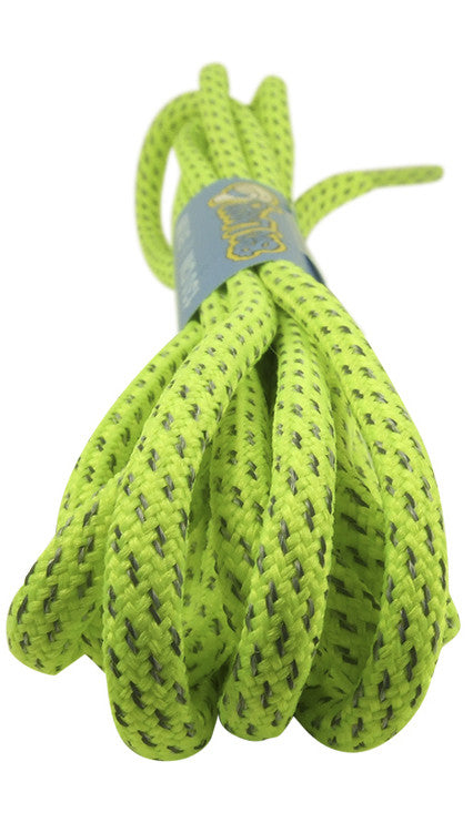 Rope Style Round Neon Yellow Laces