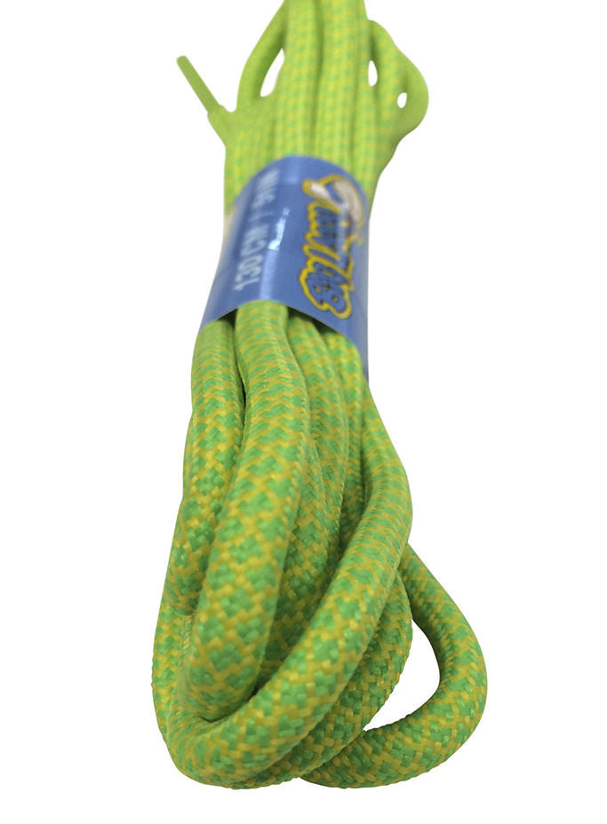 Rope Style Round Green Yellow Laces