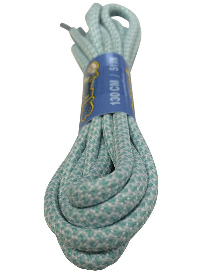 Rope Style Round Light Blue White Laces