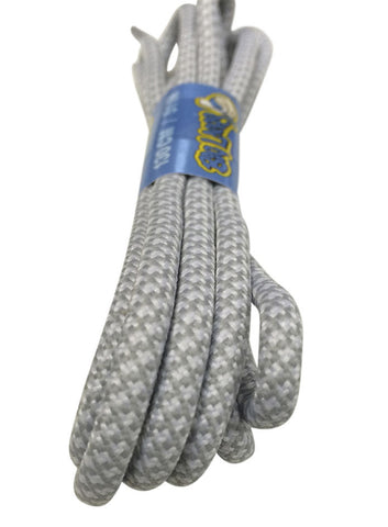 Rope Style Round White Grey Laces