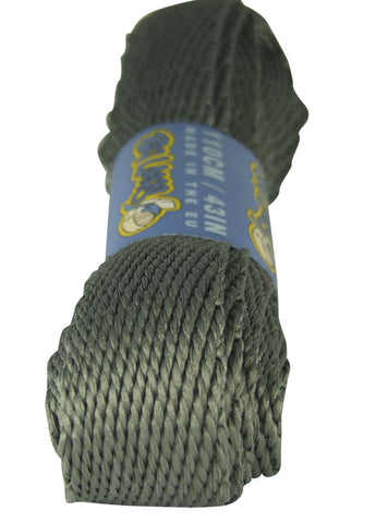 Super Wide Flat Battleship Grey Shoelaces - 20mm wide